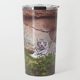 White Bengal Tiger Travel Mug