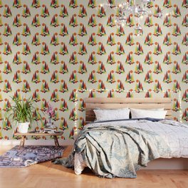 Bear In Whimsical Wild Wallpaper