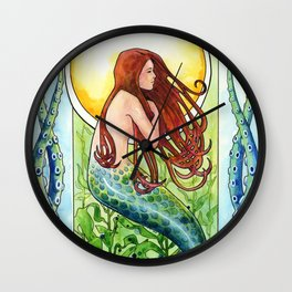 Kelp Forest Mermaid Wall Clock