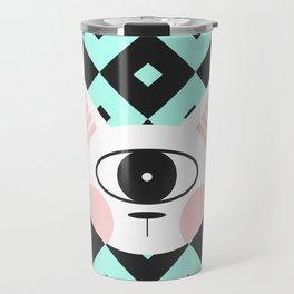 Cat Cyclops Travel Mug