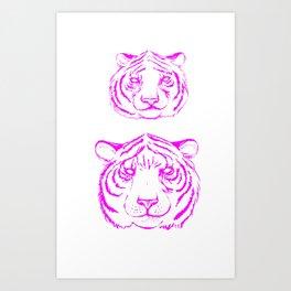 Hot Tiger Art Print