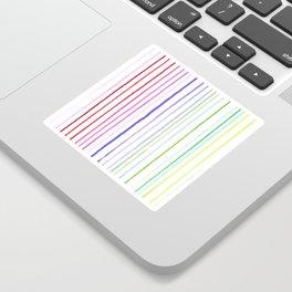 RAINBOW WATERCOLOR LINES Sticker