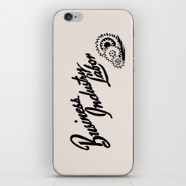 Business Industry Labor with Gears in Black iPhone Skin