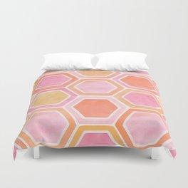 Desert Mood II - Watercolor Hexagon Pattern Duvet Cover