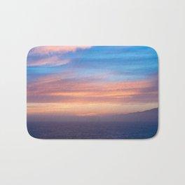 Blue Dreams Sunset - Ocean Sunset, Landscape, Scenery, Beautiful Orange Yellow Bath Mat