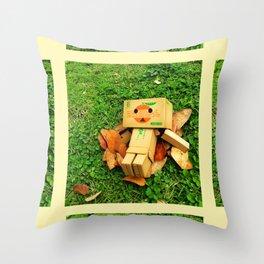 Tangerine Danbo Throw Pillow