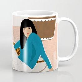 Girl and tiger Coffee Mug
