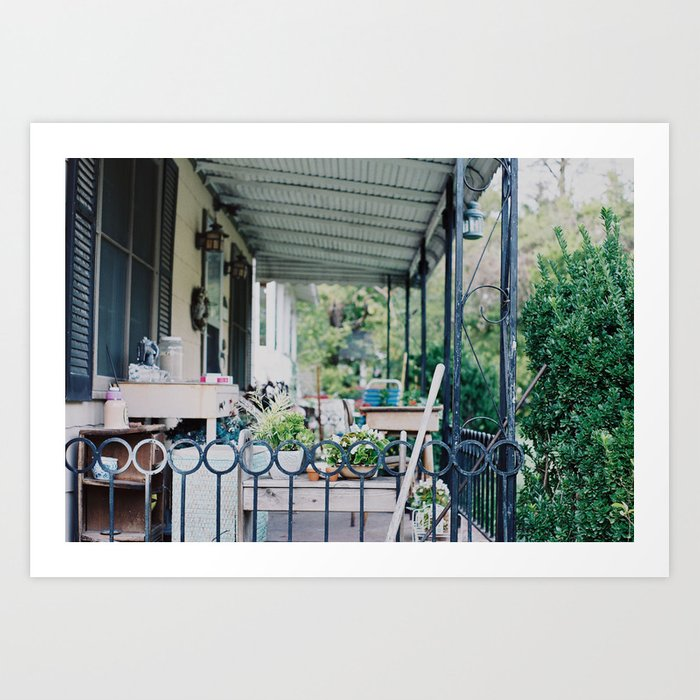 Back Yard  Art Print