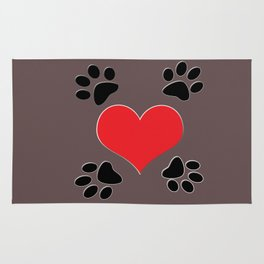 Hearts and 4 Paws Rug