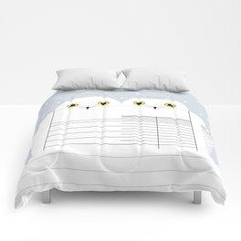 Snowy Owls Comforters