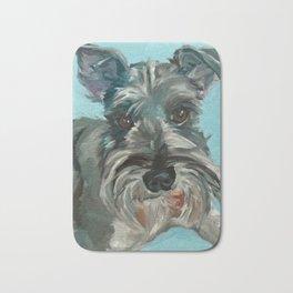 Schnauzer Dog Portrait Bath Mat