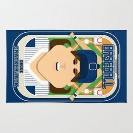 Baseball Blue Pinstripes - Deuce Crackerjack - June version Rug