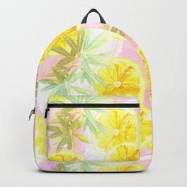 Leafy Orange Print Backpack