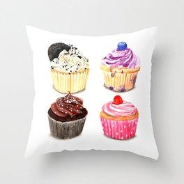 Cupcake selection Throw Pillow