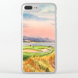 Pebble Beach Golf Course 7th Hole Clear iPhone Case