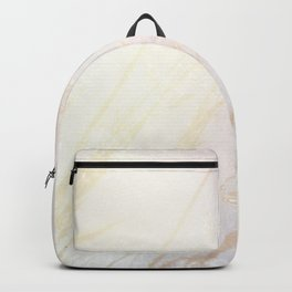 Abstract summer blush pink yellow whey pattern Backpack