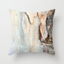 Eucalyptus tree bark and wood Throw Pillow