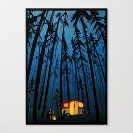 twilight camping Canvas Print