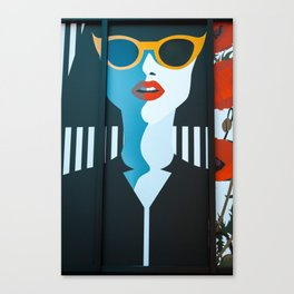 Girl with sunglasses Canvas Print