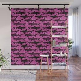 Hot Pink Shark Attack Wall Mural