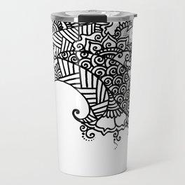 Zen Tree Rebirth White Right Half Travel Mug