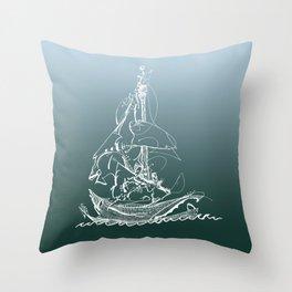 Captain Melo the Explorer Throw Pillow
