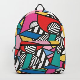 Colorful Memphis Modern Geometric Shapes Backpack