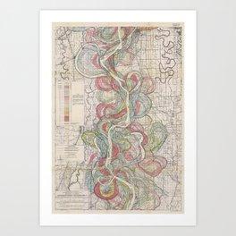 Harold N. Fisk Plate 22-09 Mississippi River Meander Belt Art Print