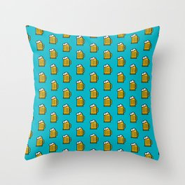 Beer Pattern - Icon Prints: Drinks Series Throw Pillow