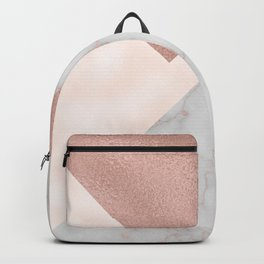 Bermuda bronze - rose gold marble. Backpack