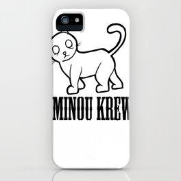 MINOU KREW iPhone Case