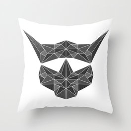 lowpolycybercat Throw Pillow