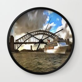 Bon Voyage Wall Clock