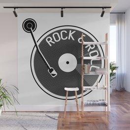 Rock & Roll Record Wall Mural