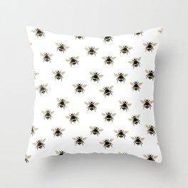 Bumble Bee pattern Throw Pillow