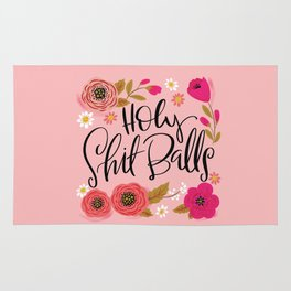 Pretty Swe*ry: Holy Shit Balls Rug