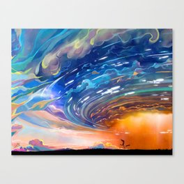 Running in the Strom Canvas Print