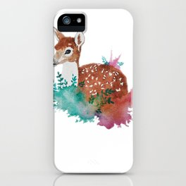 Deer Art Print iPhone Case