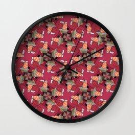 Abstract Sushi Theme geometric design Wall Clock