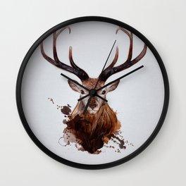Cervus Canadensis Wall Clock