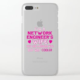 Network Engineer's Wife Clear iPhone Case