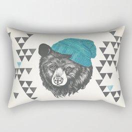Zissou the bear in blue Rectangular Pillow