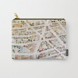 Greenwich Village Map by Harlem Sketches Carry-All Pouch