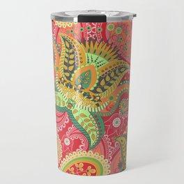 Boho Paisley Floral Pattern 4 Travel Mug