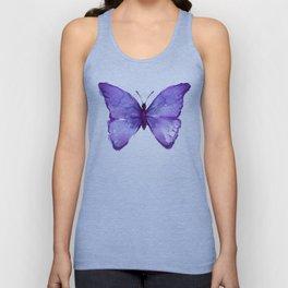Purple Butterfly Unisex Tank Top