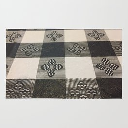 Black and white picnic Rug