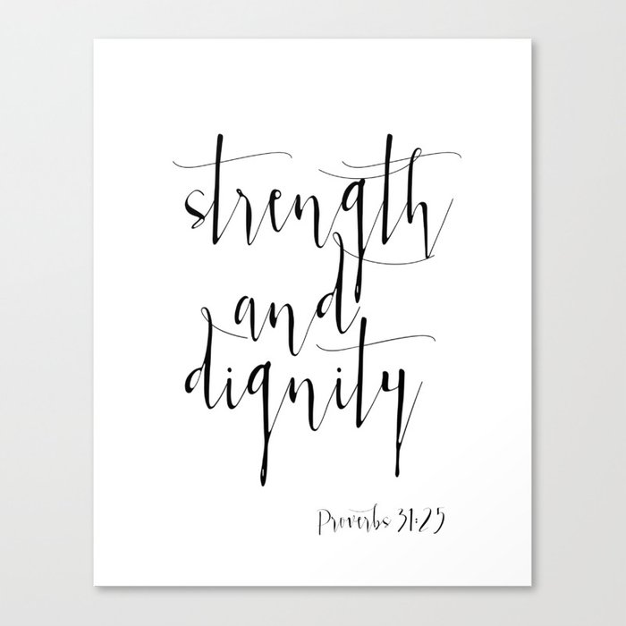 photo regarding Printable Canvas identified as Bible Verse Proverbs31:25 Christian Quotation Typography Wall Artwork Printable Artwork Bible Verse Printable Canvas Print