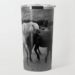 Herd of Horses Travel Mug