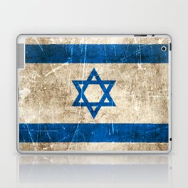 Vintage Aged and Scratched Israeli Flag Laptop & iPad Skin