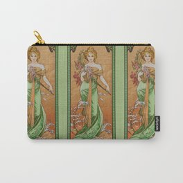 """Alphonse Mucha """"The Seasons (series): Spring"""" (1900) Carry-All Pouch"""